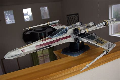 X Wing Papercraft - starfighter x wars inspired paper model all