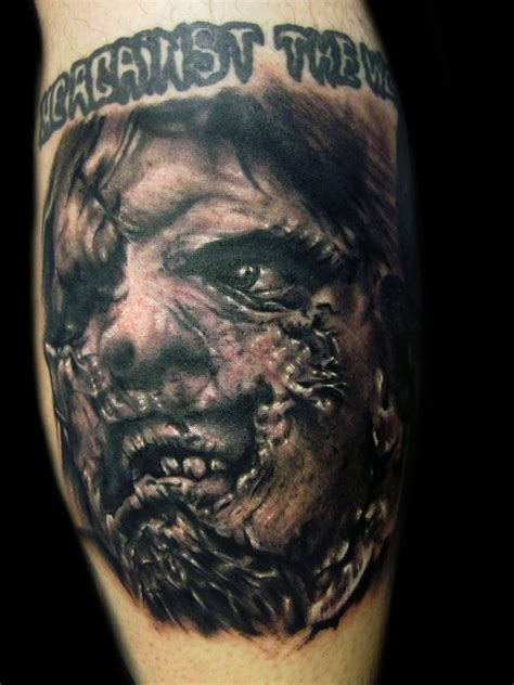leather tattoo the gallery for gt leatherface tattoos