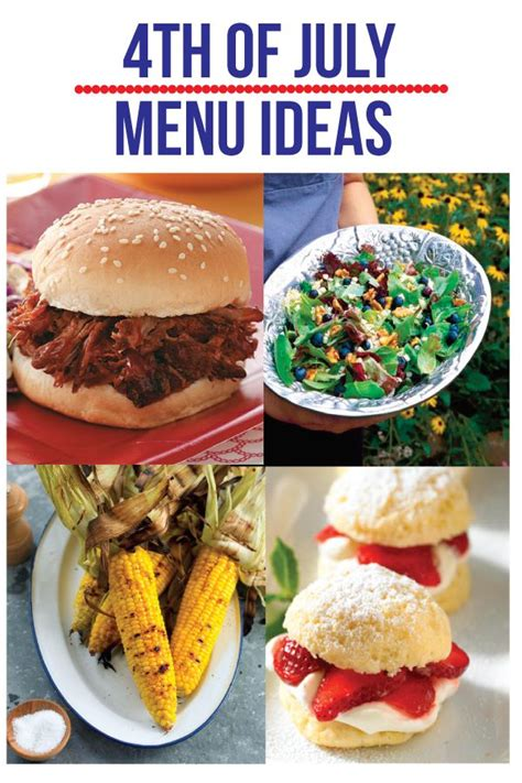 4th of july menu planning ideas food pinterest