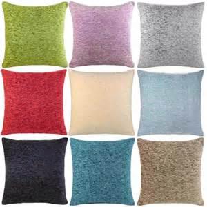 Slip Covers For Cushions Luxury Plain Chenille Cushion Covers 18x18 22x22 Ebay