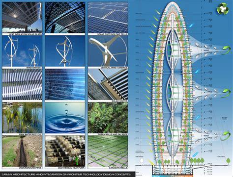 bionic arch echo tower symbolizes future eco friendly