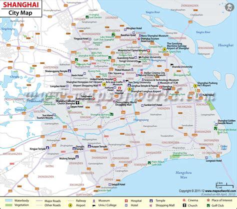 shanghai map shanghai province