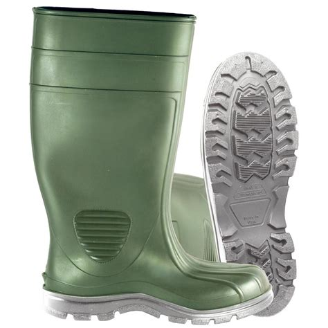 mens pvc boots heartland s size 13 green comfort tuff industrial pvc