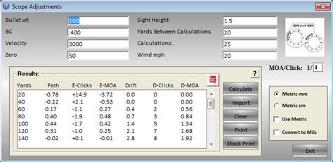 sectional density calculator ballistic basics screen shots