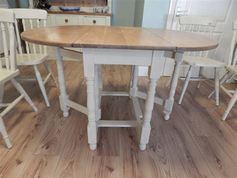 shabby chic gate leg dining table amp 4 chairs vintage