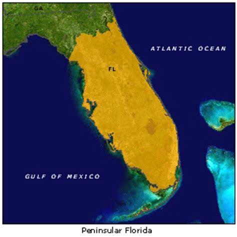 map of florida peninsula peninsular florida
