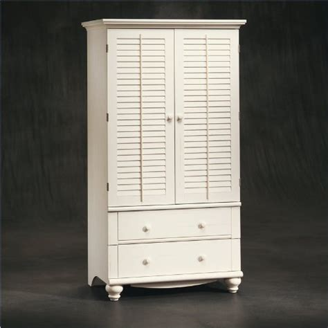 White Computer Armoire by Computer Armoire White