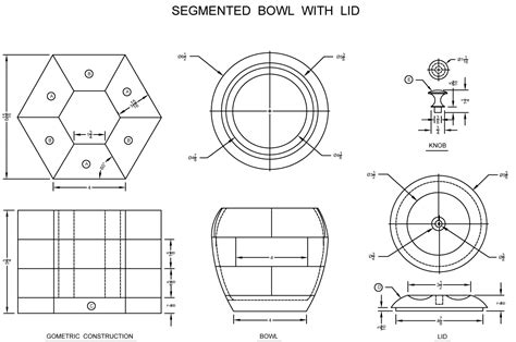 wooden segmented bowl plan  lees wood projects