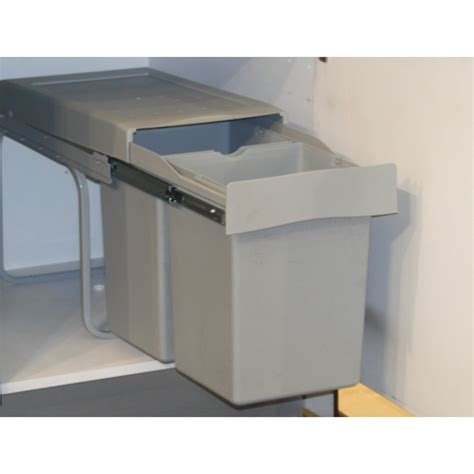 Kitchen Cabinet Pullouts pull out double waste bin 28 litres
