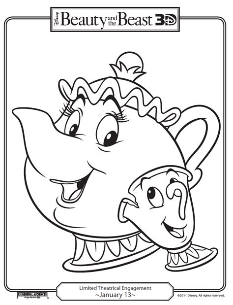 beauty and the beast teapot coloring pages wp images coloring pages disney