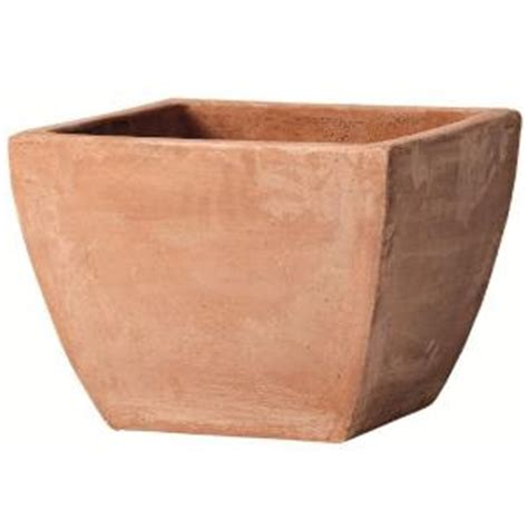 norcal pottery 7 75 in blush terra cotta low milan pot