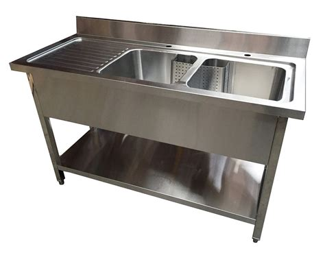 stainless steel shop sink 1 4m commercial stainless steel lhd bowl sink 700