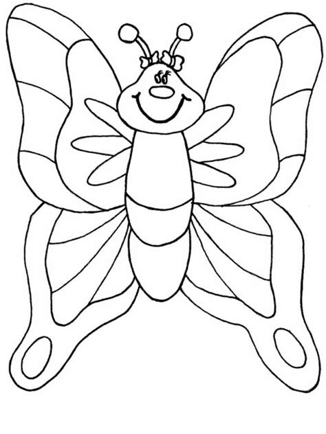 coloring sheets for preschool butterfly coloring pages