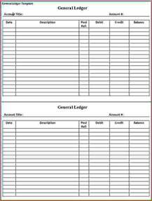 General Ledger Templates by General Ledger Template Printable