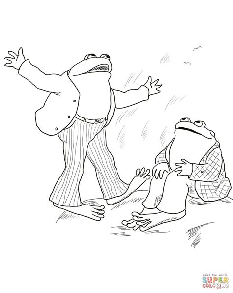 Coloring Pages Frog And Toad | frog and toad are friends coloring page free printable