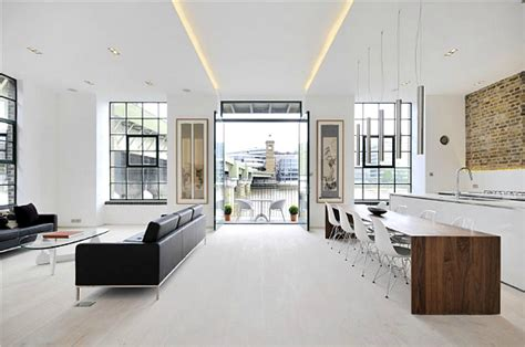 Apartment Decorating modern white apartment on the heart of london