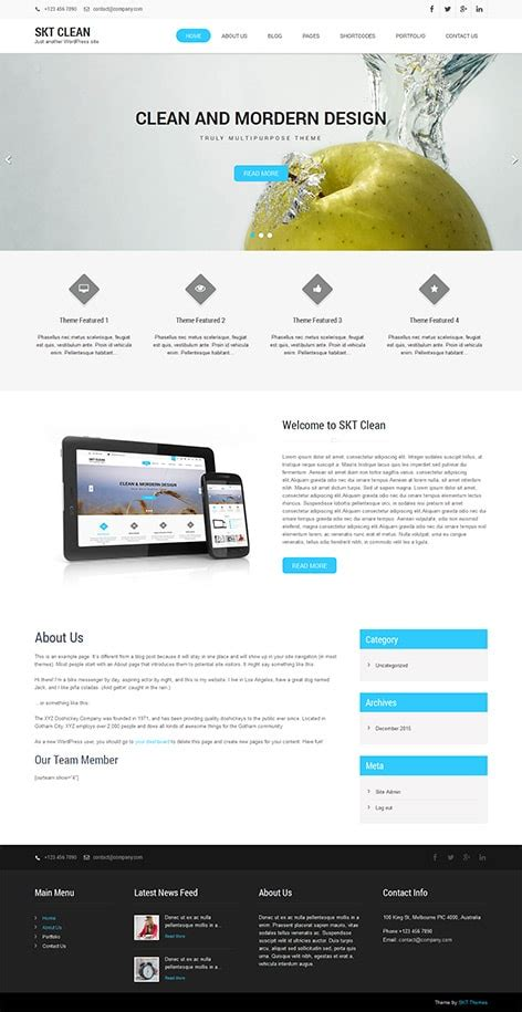 wordpress themes free download with slider responsive 54 best responsive free wordpress themes with slider