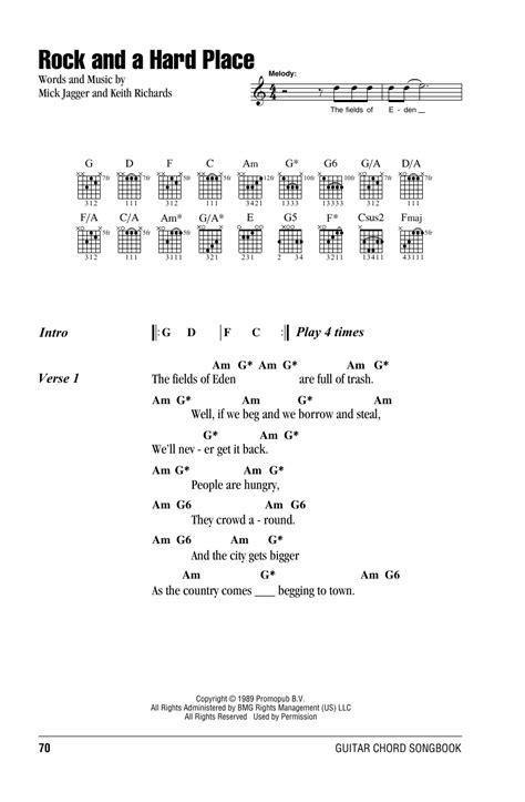 A Place Guitar Chords Rock And A Place By The Rolling Stones Guitar Chords Lyrics Guitar Instructor
