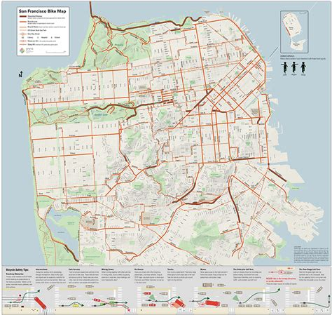 san francisco map free san francisco bike network map sfmta