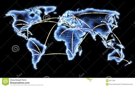 networking telecom the custom connection world map telecommunications internet network stock