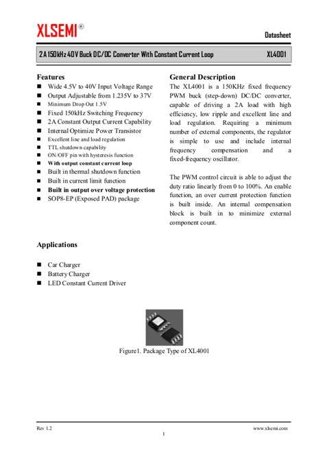 XLSEMI XL4001 datasheet