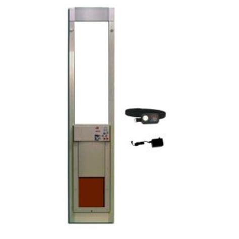 Doggie Door For Sliding Glass Door Home Depot Power Pet 8 In X 10 In Electronic Patio Pet Door For Sliding Glass Doors Px 1sgs The Home Depot