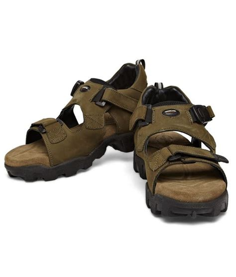 woodland leather sandals woodland sturdy green nubuck leather sandals price in