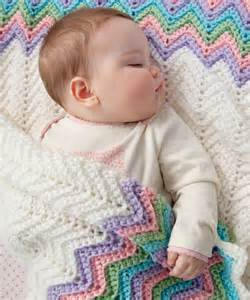 rickrack rainbow baby blanket crochet pattern