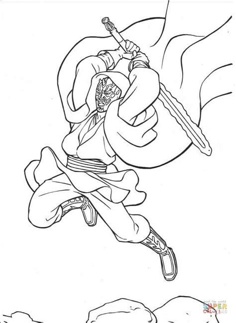 star wars darth maul coloring page star wars darth maul coloring page free printable