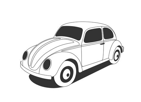 volkswagen car black beetle cliparts