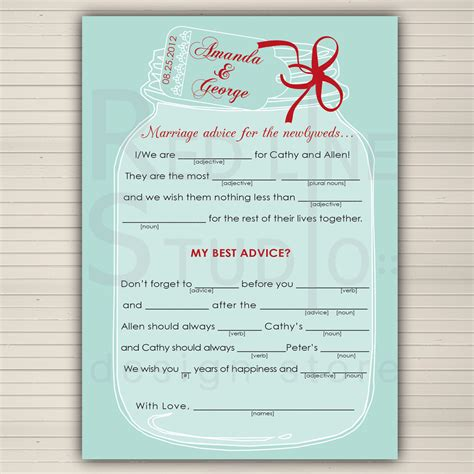 wedding libs template 9 best images of wedding day mad lib printable free