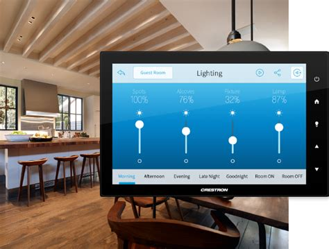 crestron residential home automation controls