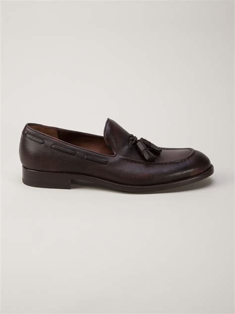 mocassin loafer lyst fratelli rossetti moccasin loafer in brown for