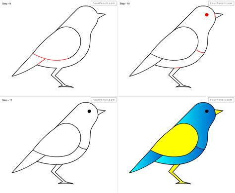 how to draw doodle birds how to draw bird for step by step drawing tutorial