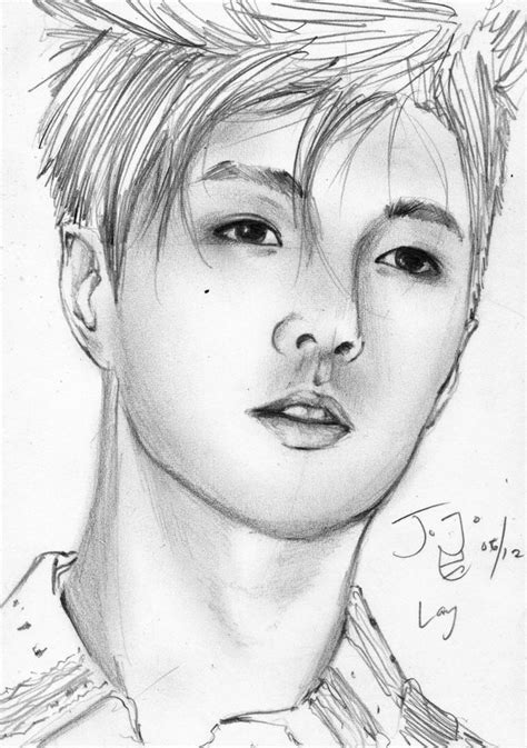 sketchbook exo exo m lay pencil sketch by takojojo15 on deviantart