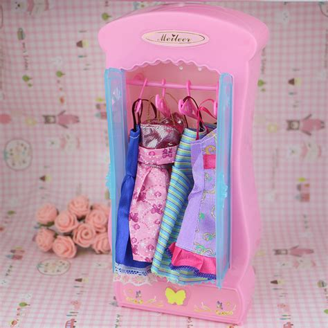 barbie princess bedroom doll accessories furnitures miniature cabinet pink barbie
