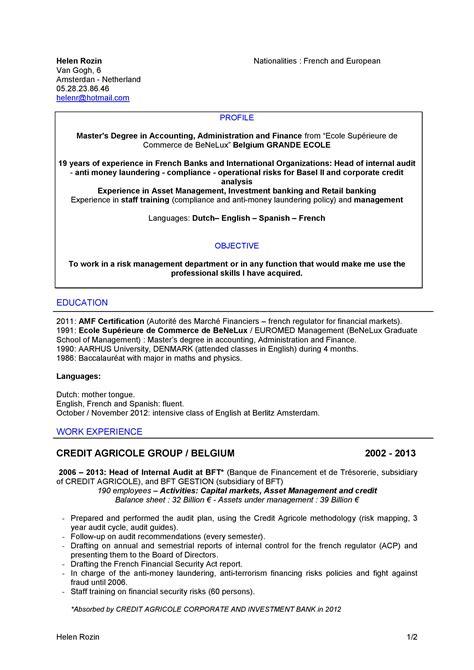 Ejemplo Curriculum Vitae Financiero Ejemplo De Resume O Cv Para Asesor Financiero En Ingl 233 S Curr 237 Culum Entrevista Trabajo