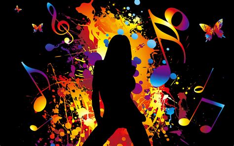 wallpaper colorful music colorful vector music girl dancing wallpaper 1920x1200