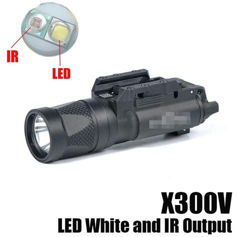 Poluper Flashlight Sf X300v Mahabrata new sf x300v ir flashlight tactical gun light led white and ir output fit 20mm picatinny rail