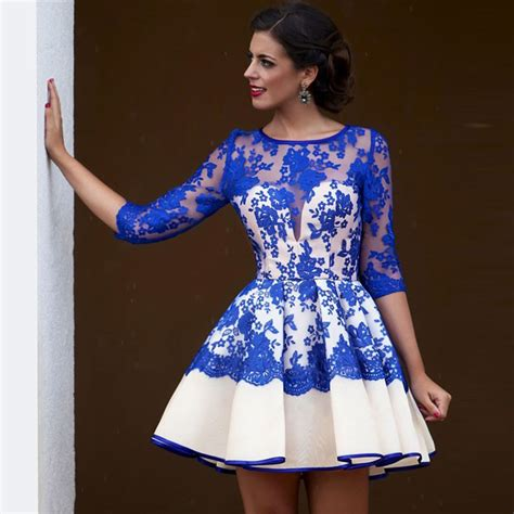 dress arrabic 6 arabic royal blue cocktail dresses 2017 lace