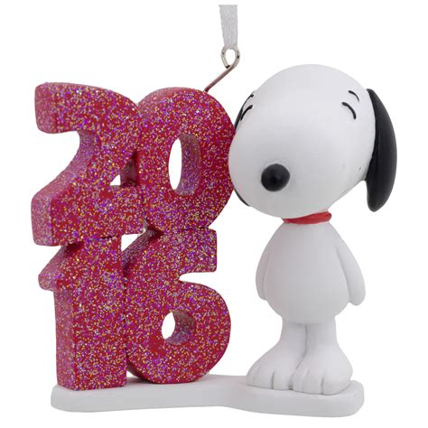 hallmark peanuts snoopy dated 2016 christmas ornament