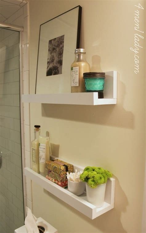 Diy Shelves For A Bathroom 4men1lady Com Bathrooms Small Bathroom Wall Shelves