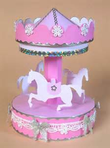 free carousel template card craft card templates for opening 3d carousel