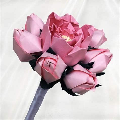buy origami peony origami peony with bud bouquet