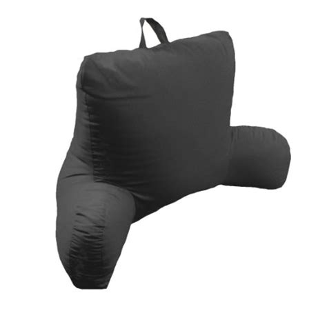 black bed rest pillow arlee micro suede bed rest lounger black home garden