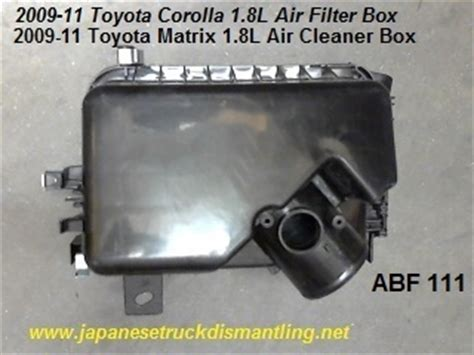 2010 Toyota Corolla Filter 2009 2010 2011 Toyota Corolla Air Filter Housing Air