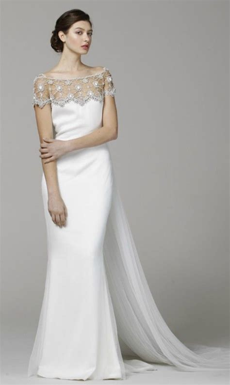 elegant   shoulder wedding dress  older brides