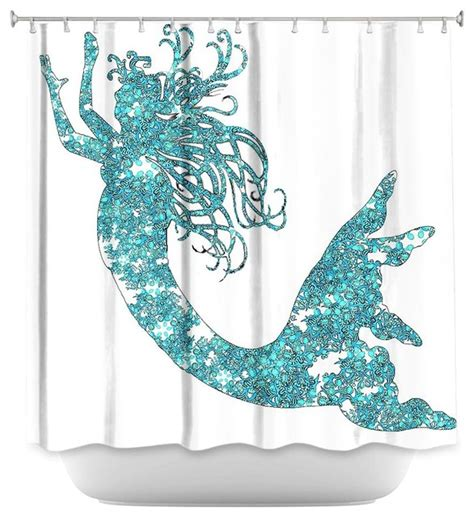 mermaid shower curtain shower curtain artistic mermaid aqua modern shower