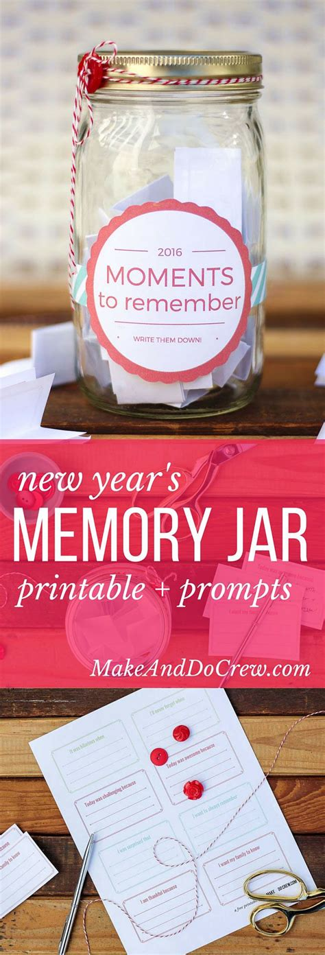 printable journal jar label how to make a memory jar free printable label daily