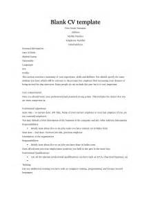 free cv template personal career management